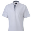 Mens Plain Polo James & Nicholson - white/navy/white