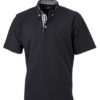 Mens Plain Polo James & Nicholson - black/black white