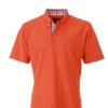 Mens Plain Polo James & Nicholson - dark orangeblue orange white
