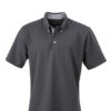 Mens Plain Polo James & Nicholson - graphite/graphite white