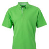 Mens Plain Polo James & Nicholson - lime greenlime green white