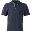 Mens Plain Polo James & Nicholson - navy/light denim