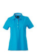 Ladies Plain Polo James & Nicholson - turquoise/turquoise white