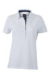 Ladies Plain Polo James & Nicholson - white/dark denim
