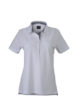 Ladies Plain Polo James & Nicholson - white/navy/white