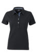Ladies Plain Polo James & Nicholson - black/light denim