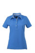 Ladies Plain Polo James & Nicholson - glacier blue/glacier blue white