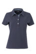 Ladies Plain Polo James & Nicholson - navy/light denim