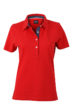Ladies Plain Polo James & Nicholson - red/dark denim