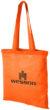 Carolina Baumwolltasche mit langem Henkel - orange
