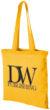 Carolina Baumwolltasche mit langem Henkel - gelb
