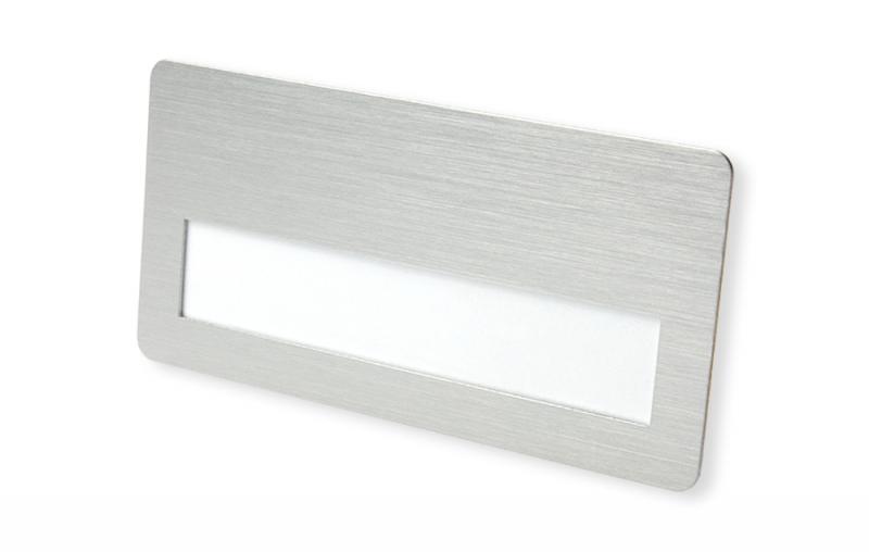 Metall Namensschild silberfarbig