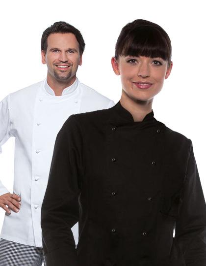 Kochjacke weiß oder schwarz Baumwolle