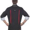 Fashionable Rock Chefs Jacket KARLOWSKY - schwarz hinten
