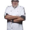 Fashionable Rock Chefs Jacket KARLOWSKY - weiß vorne