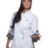Fashionable Rock Chefs Ladies Jacket KARLOWSKY - weiß