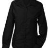 Werbeartikel Damen Bluse Promotion longsleeved - black