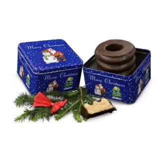 Werbepräsent Baumkuchen in Weihnachtsdose