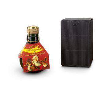 Weihnachtsgruß kleine Sektflasche