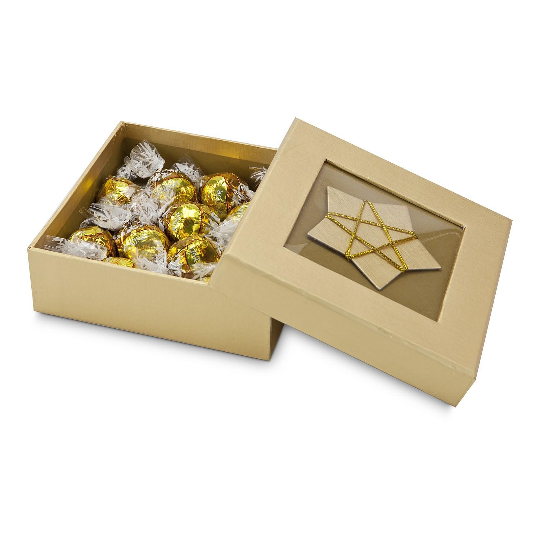 Lindt Kugeln in goldener Schachtel
