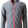 Men's Promo Softshell Jacket James & Nicholson - iron grey redd
