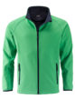 Men's Promo Softshell Jacket James & Nicholson - green navy