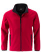 Men's Promo Softshell Jacket James & Nicholson - red black