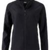 Ladies Promo Softshell Jacket James & Nicholson - black black