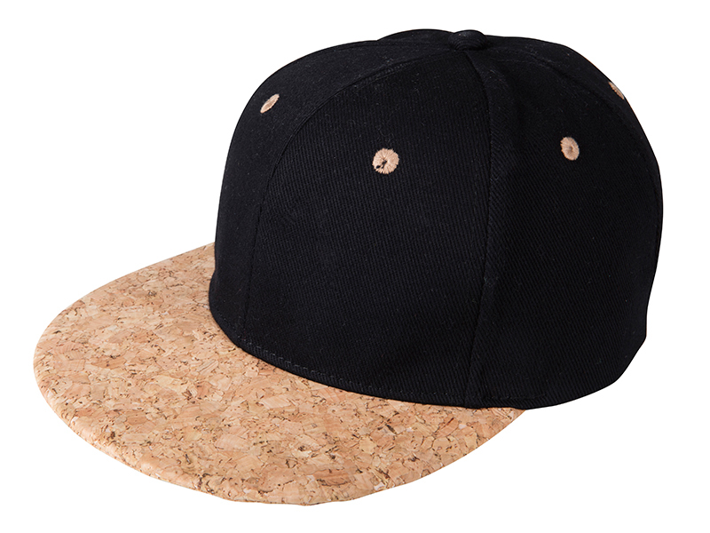 6 Panel Cork Flat Peak Cap James & Nicholson