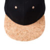 6 Panel Cork Flat Peak Cap James & Nicholson - Oberseite