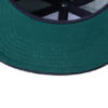 6 Panel Denim Pro Cap James & Nicholson - darkdenim darkgreen