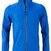 Men's Zip Off Softshell Jacket James & Nicholson - nauticblue navy