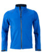 Men's Zip Off Softshell Jacket James & Nicholson - nauticblue navy