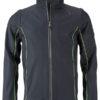 Men's Zip Off Softshell Jacket James & Nicholson - irongrey green