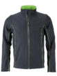 Men's Zip Off Softshell Jacket James & Nicholson - irongrey green