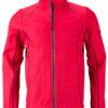 Men's Zip Off Softshell Jacket James & Nicholson - red black