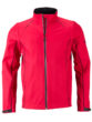 Men's Zip Off Softshell Jacket James & Nicholson - red black