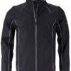 Men's Zip Off Softshell Jacket James & Nicholson - black silver