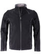 Men's Zip Off Softshell Jacket James & Nicholson - black silver