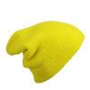 Knitted Long Beanie James & Nicholson - yellow
