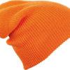 Knitted Long Beanie James & Nicholson - orange