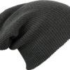 Knitted Long Beanie James & Nicholson - darkgrey melange