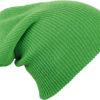 Knitted Long Beanie James & Nicholson - limegreen