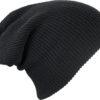Knitted Long Beanie James & Nicholson - black