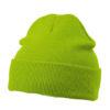 Knitted Cap James & Nicholson - limegreen