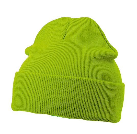 Knitted Cap James & Nicholson - limegreen