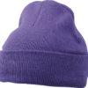 Knitted Cap James & Nicholson - darkpurple