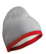 Beanie with Contrasting Border James & Nicholson - lightgrey burgundy