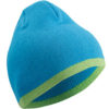 Beanie with Contrasting Border James & Nicholson - turquoise limegreen