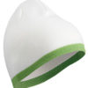 Beanie with Contrasting Border James & Nicholson - white limegreen